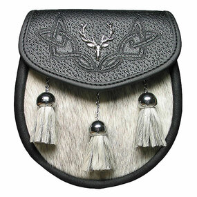 Semi-Dress Sporran Stag Crest