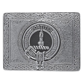 Rectangular Clan Crest Belt Buckle