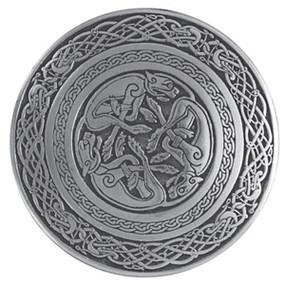 Celtic Dog Belt Buckle