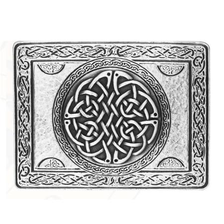 Wallace Rectangular Celtic Knot(AntiqueSilver) Belt Buckle