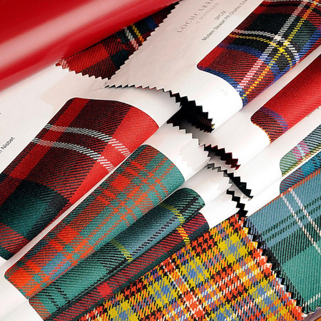 tartan fabric sample