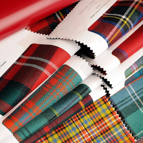 tartan fabric sample