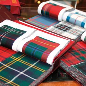 tartan fabric swatch