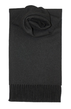 Black Lambswool Scarf
