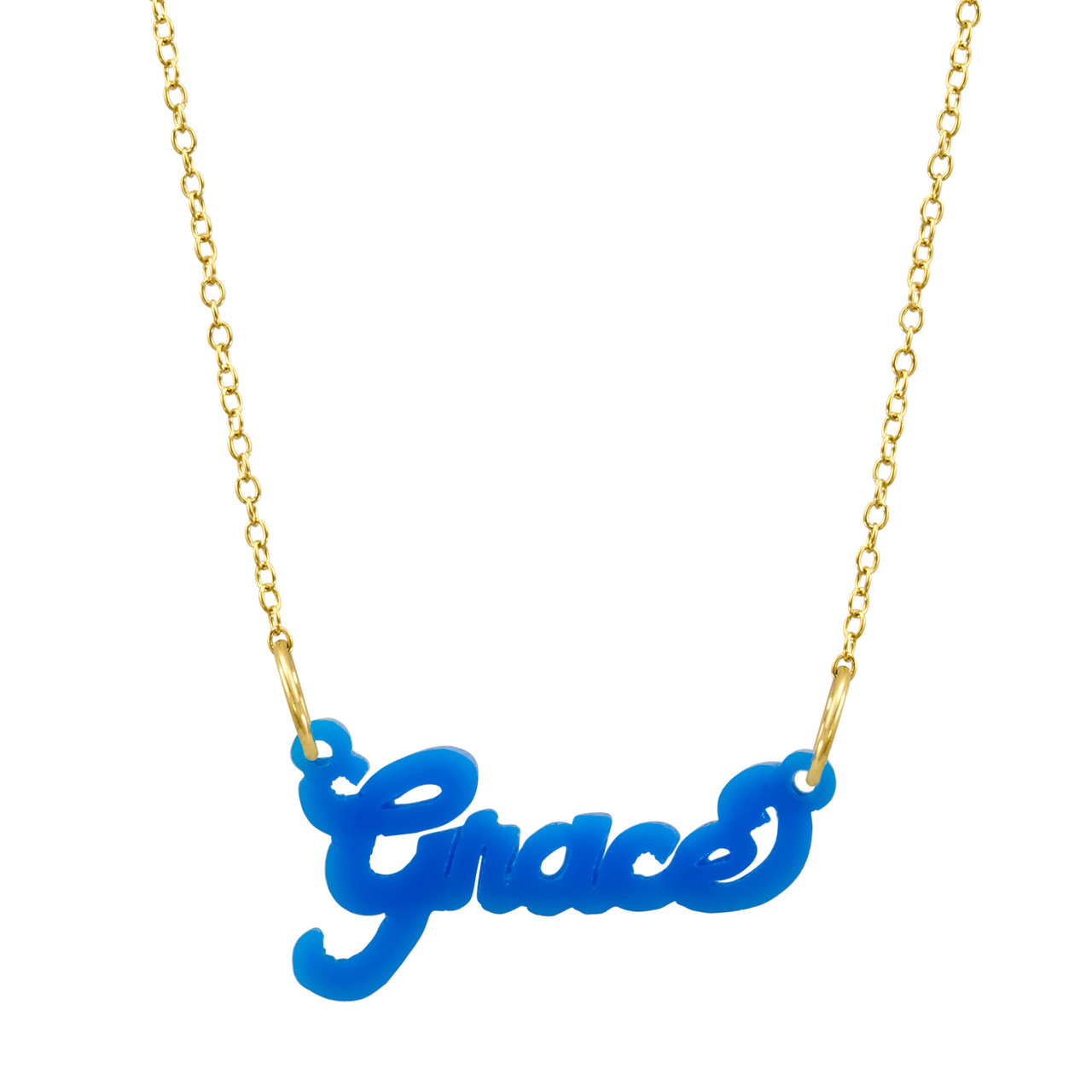281706949c15a Acrylic Nameplate Necklace with Chain
