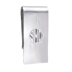 Sterling Silver, Block Initials, Money Clip, Mens Gifts