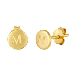 Zoey Earrings, Gold Vermeil, Engraved Earrings