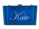 Tara Bag, Blue, Acrylic Clutch, Personalized Handbag, Name, Monogram, Script