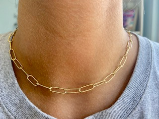 Paper Clip Link Necklace / Chain Link Necklace
