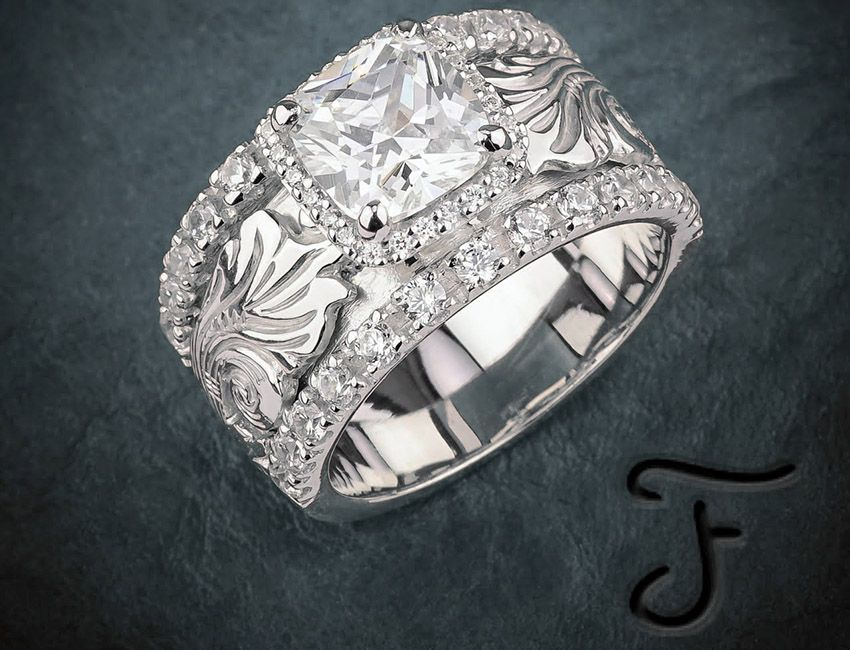SR-54 Sterling Silver Cubic Zirconia Ring