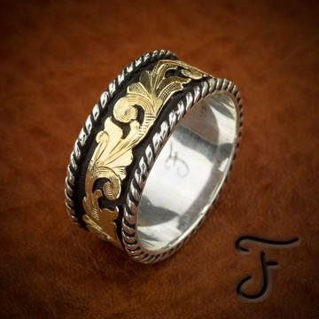 Cowboy Wedding Rings - Mens\' Western Rings Online | Fanning Jewelry