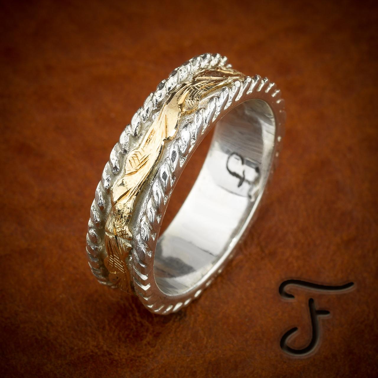Image 1: Handmade Western Style Wedding Rings At Reisefeber.org