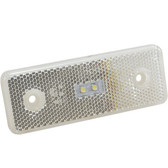 LED (2 PK) REAR MARKER/REFLECTOR WHITE