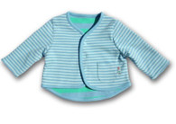 Reversible Stripy Cardigan in Blue