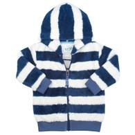 Stripy Zip-Through Fleece
