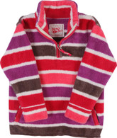 Half-zip Fleece in Candy Stripe
