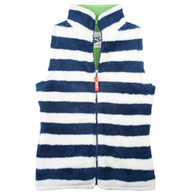 Stripy Gilet in Navy & Ecru