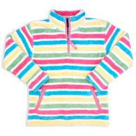 Cosy Zip Neck Fleece in Candy Stripes