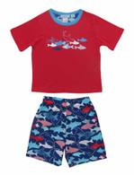Funny Sharks T-Shirt/Boardshort Pyjamas