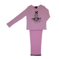 Pink & Black Spot Pyjama set