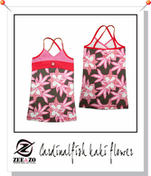 Cardinalfish Kaki Flower Beach Dress