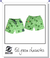 Eel Green Character Swim Shorts