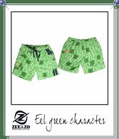 Eel Green Character Swim Shorts