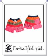 Football Fish Swim Shorts in Pink