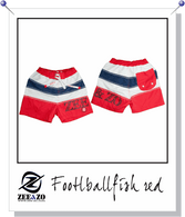 Football Fish Swim Shorts in Red