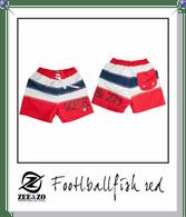 Football Fish Swim Shorts in Red