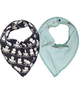 KEY Bib Scarf Set of 2 in Green/Ink