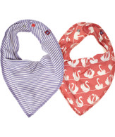 KEY Bib Scarf Set in Purple/Red
