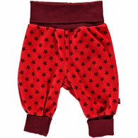 ONE 61 Velour Trousers in Chili Red