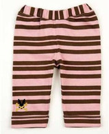 Pink & Brown Stripy Leggings
