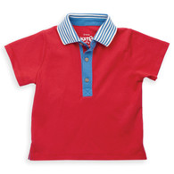 Stripy Collar Polo Shirt