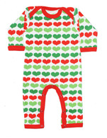 Red & Green Hearts Jumpsuit