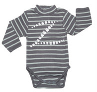 The Rollneck Onesie in Stripes