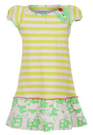ZOE Lime Stripe Dress