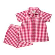 Pretty Check Shortie Pyjamas