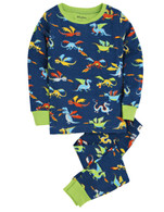 DRAGONS Pajama Set, Navy/Multi-Print