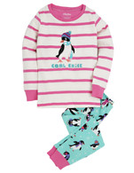 PRETTY PENGUINS Pajama Set, Pink/Multi-Print