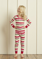 Pink Stripes Henley Pajama Set