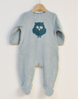 All-in-One Green Owl Sleepsuit