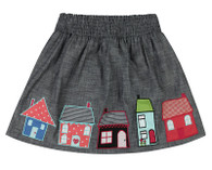 House Hem Appliqué Skirt