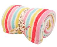 Fleece Blanket in Multi-Stripe