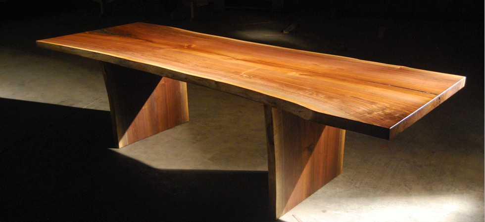 JT Studio Walnut Live Edge Slab Table