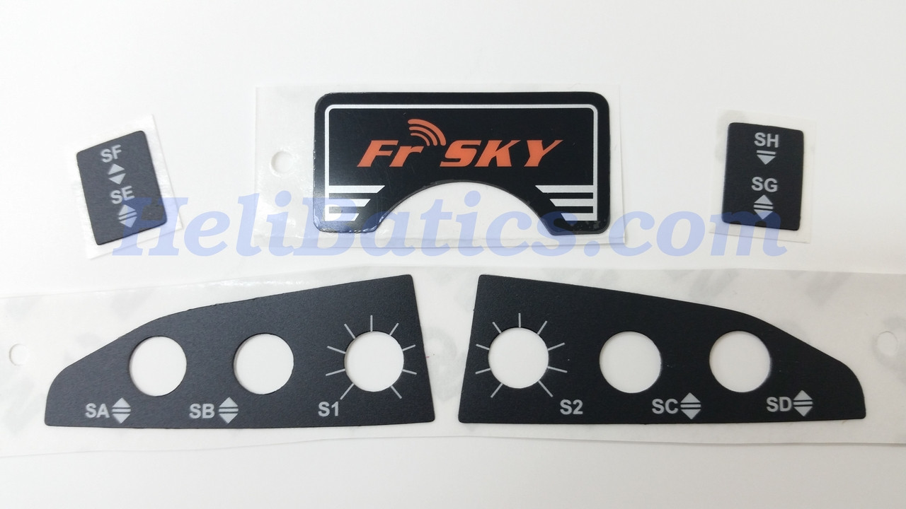 Frsky Taranis X9dx9d Plus Spare Part Sticker Set