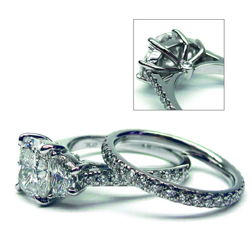 Custom Made Flush Set Diamond Engagement Ring at Artners Gallery