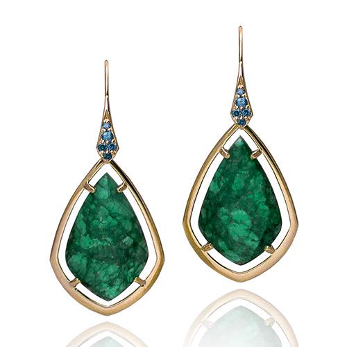 Custom Made Green Kite Earrings at Artners Gallery