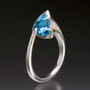 Infinite Hope Ring - Blue Topaz, Art Jewelry by Aleksandra Vali